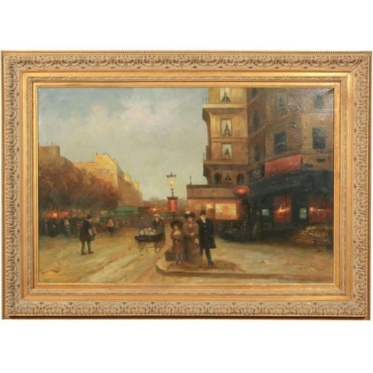 Parisian Street Scene signed J. Joyers