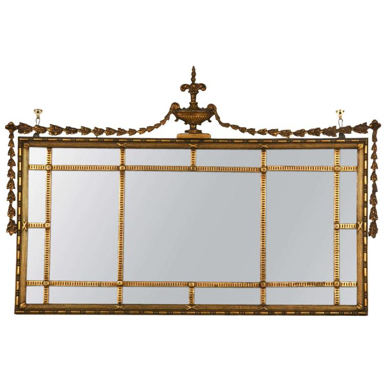 Early Adams Style Gilt Wooden Mirror