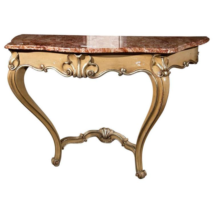 french rococo style console table