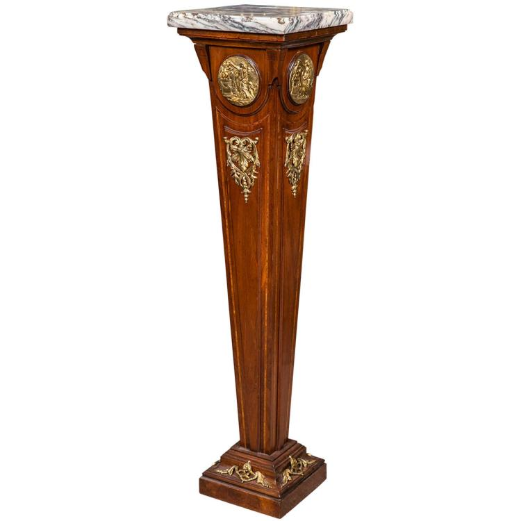 French Empire Style Mahogany Pedestal Stand