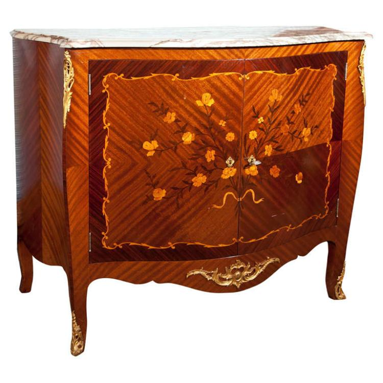 French Style Mahogany Bar Cabinet