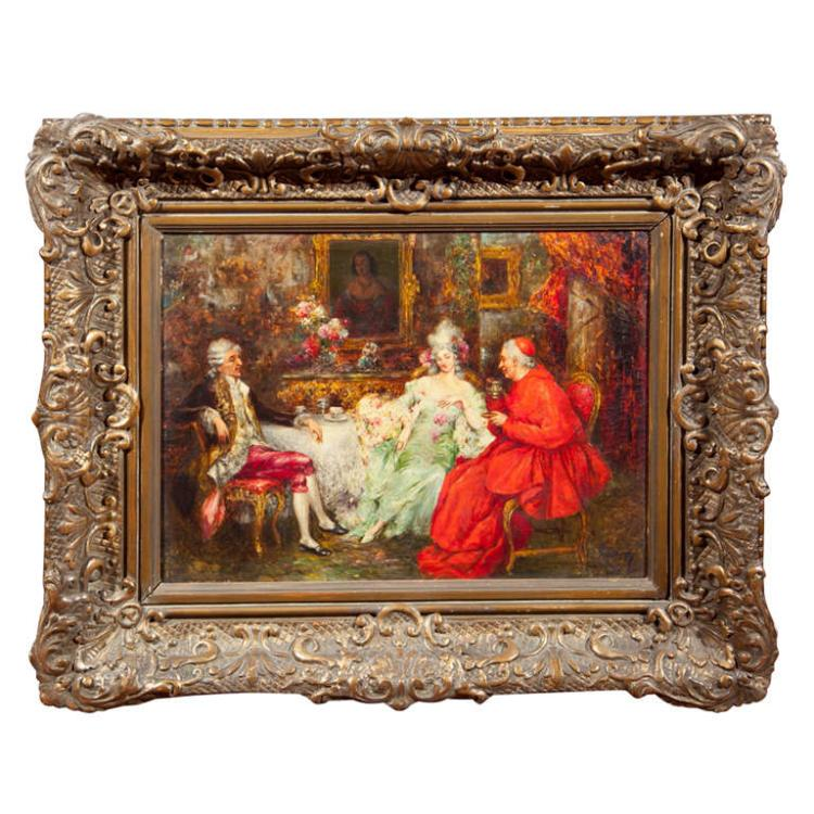 Early 19th Century Oil Painting Signed