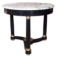 Ebonized Center Table with Marble top