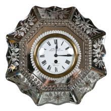 Venetian Glass Mirrored Clock