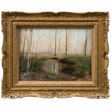 Oil on Canvas of Landscape Signed Hamblen
