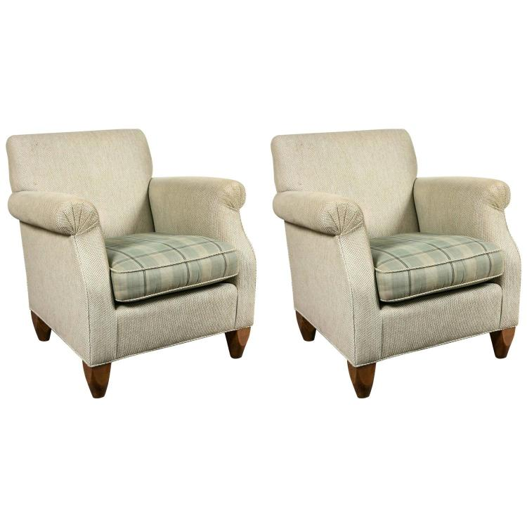 Pair of Baker over Stuffed Armchairs