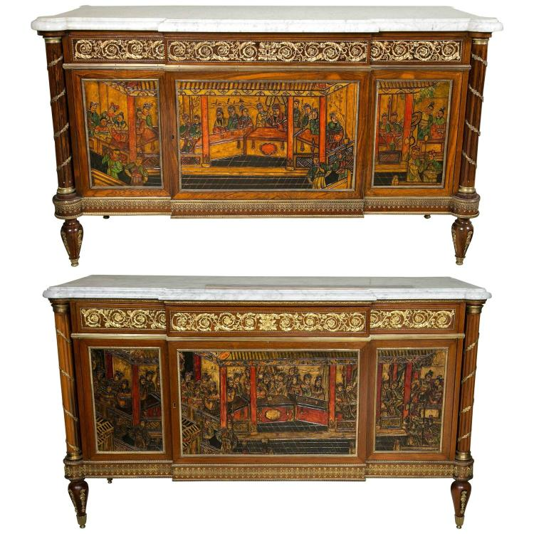 Compatible French Chinoiserie Commode Chests