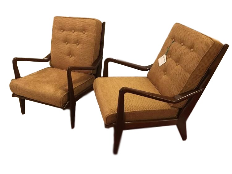 Pair of Danish Lounge Chairs