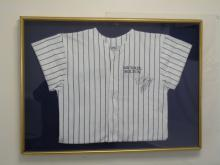 Signed Yankee Striped Michael Bolton Signed Shirt