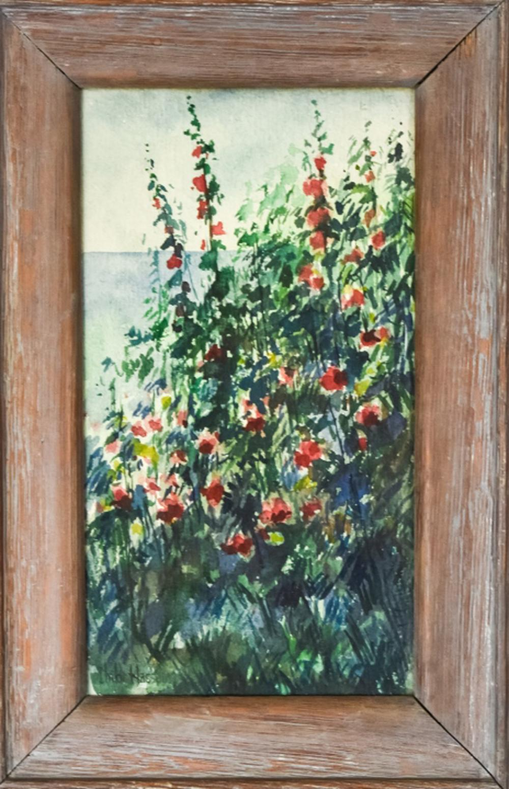 Attributed to Childe Hassam Watercolor Painting