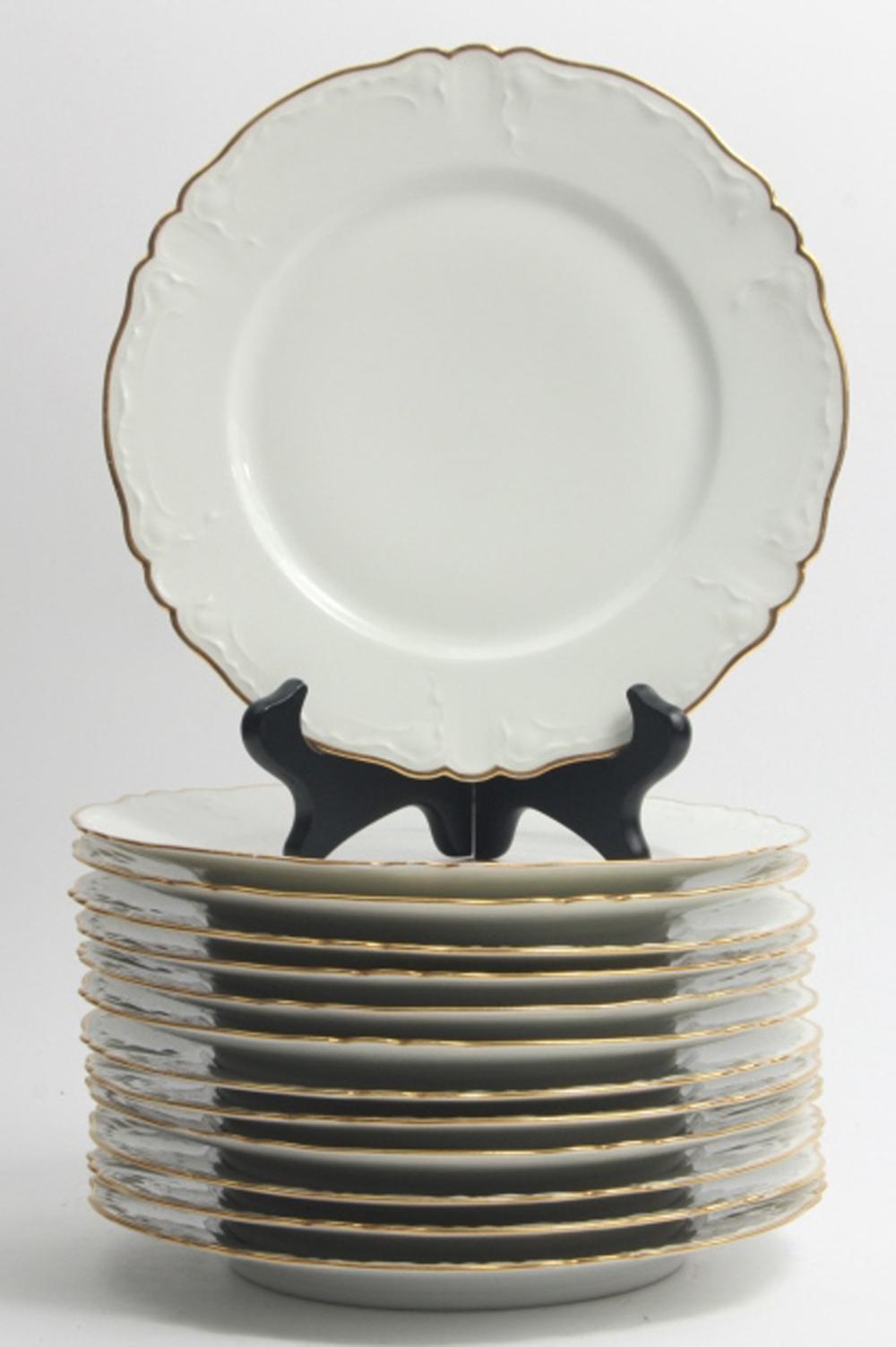 13 Haviland Limoges Porcelain Luncheon Plates