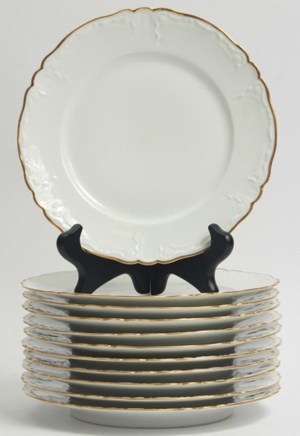 11 Haviland Limoges Porcelain Bread Plates