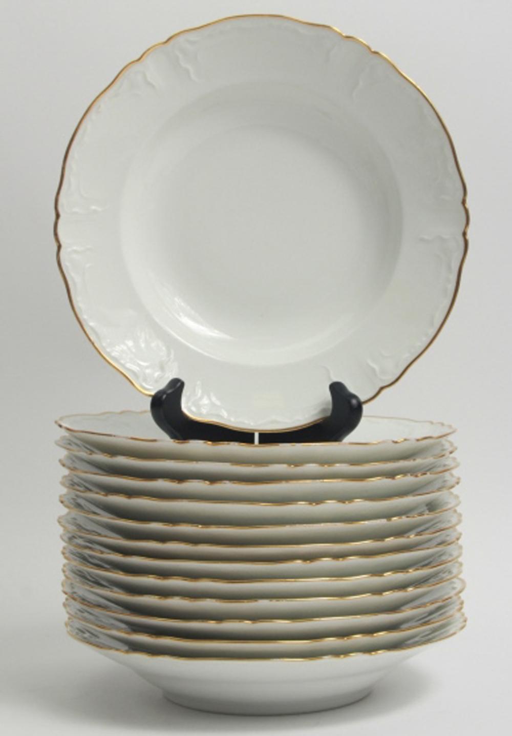 13 Haviland Limoges Porcelain Soup Bowls
