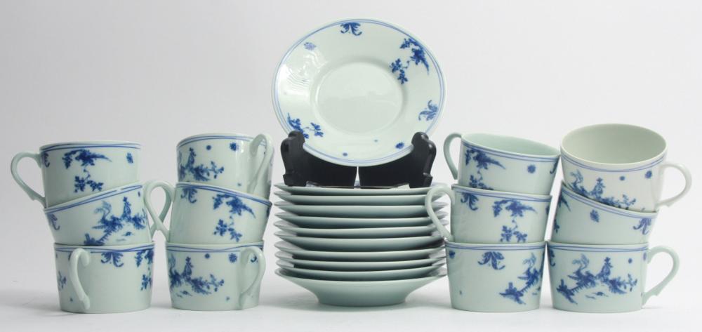 Limoges Raynaud Ceralene Porcelain Cups Saucers
