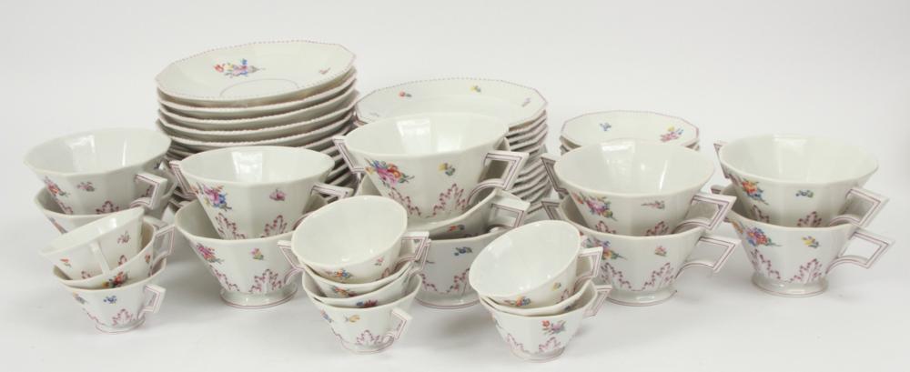Nymphenburg Porcelain Tea Service for 10