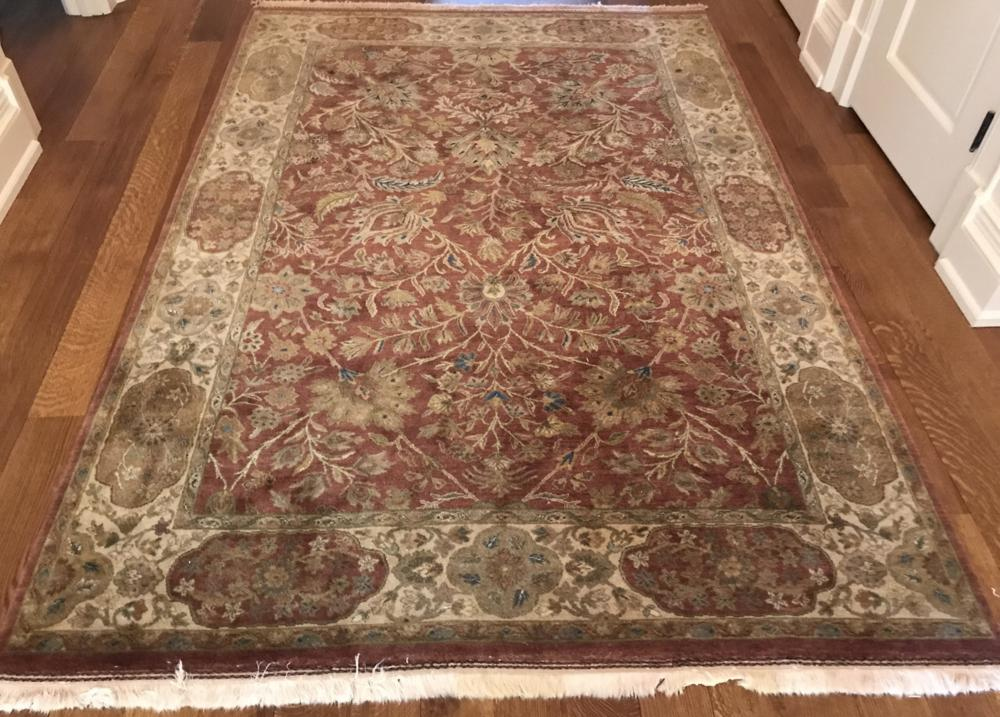 Quality Hand Knotted Wool Persian Carpet w Fringe