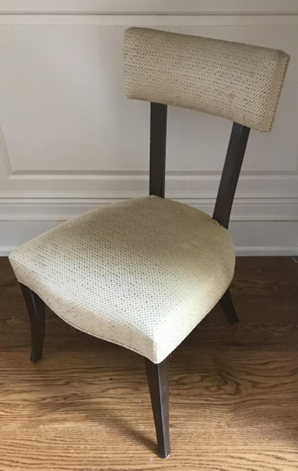 Contemporary Modern Plaid Fabric Side Chair