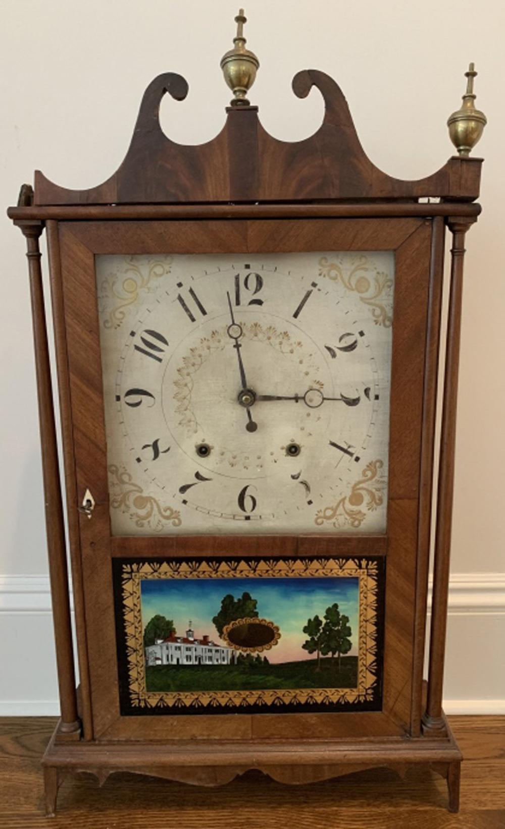 Antique Early 19th C Eli Terry Shelf Clock