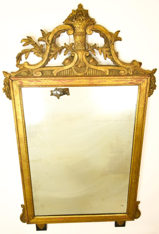 Antique Adam Style Gilded Mirror
