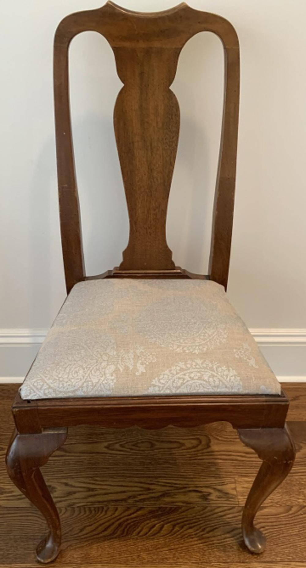 Antique Queen Anne Style Side Chair