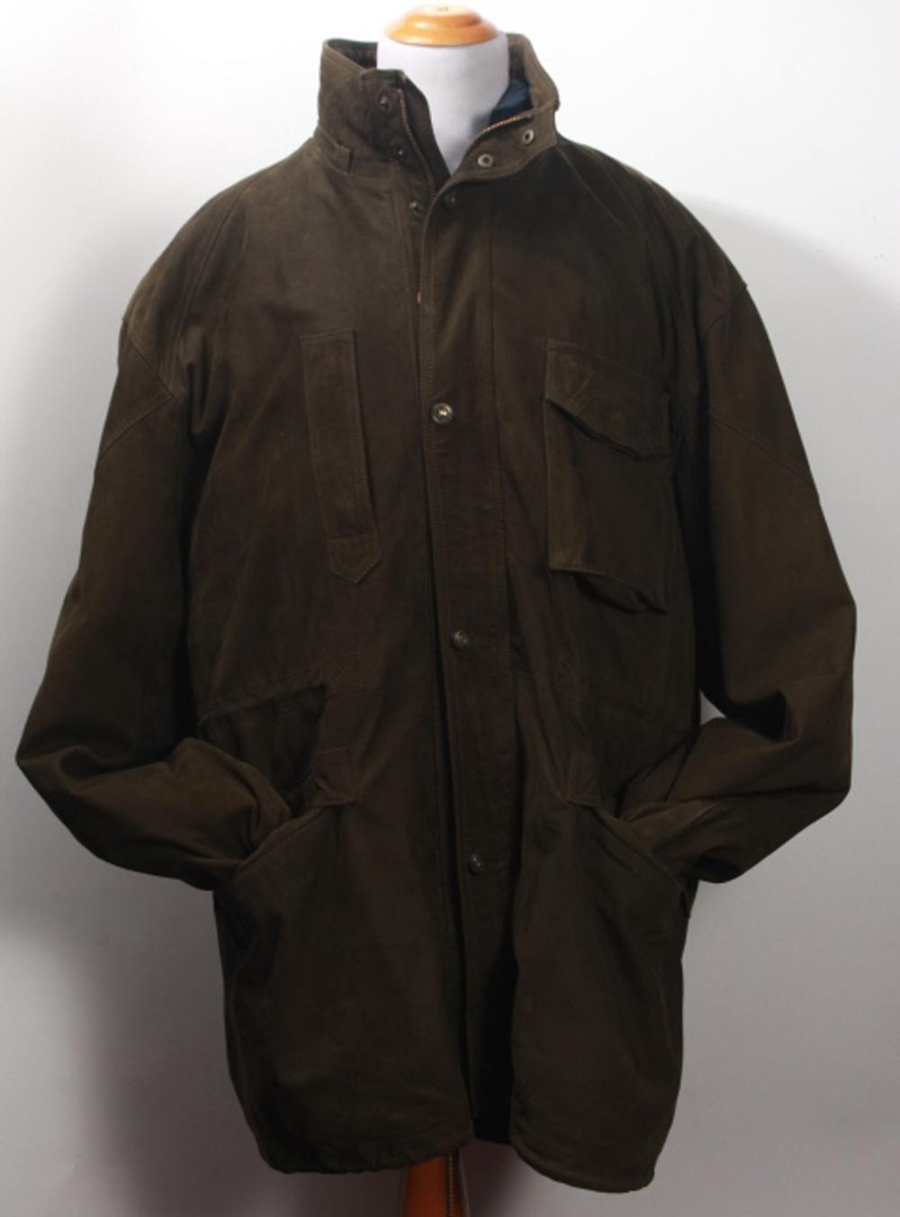 Marco Pierguidi Leather & Down Filled Coat