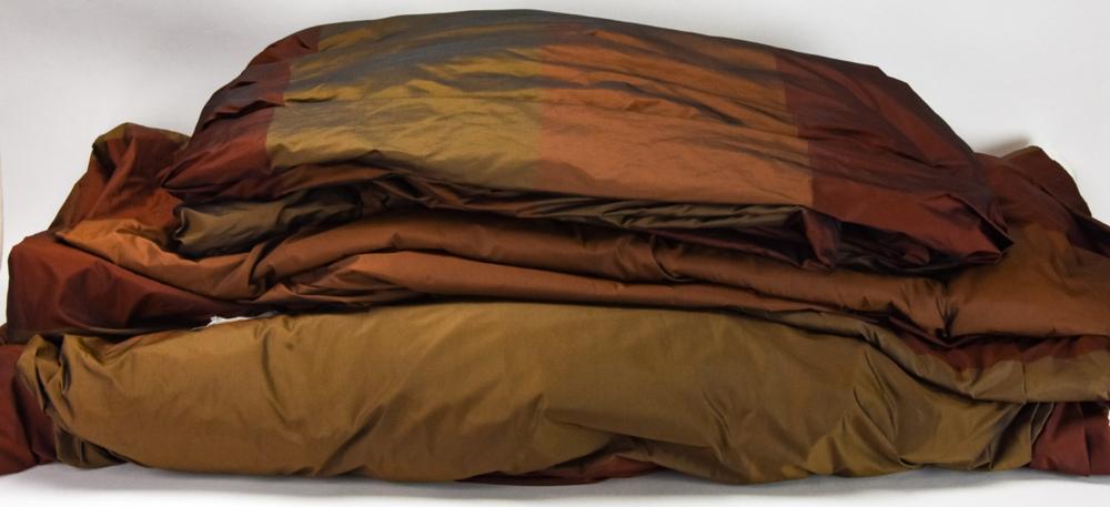 3 Custom Designer Lined Silk Curtain Panels
