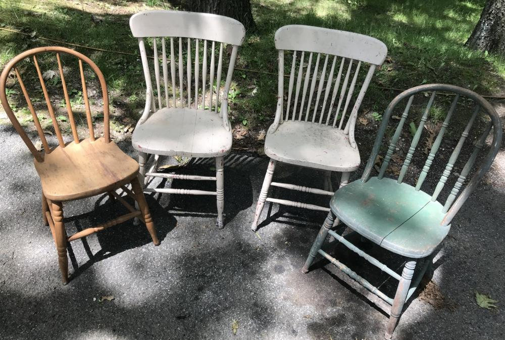 Four Antique 19th C American Dining Side Chairs