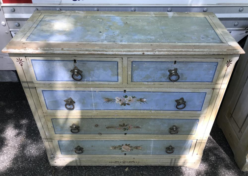 Antique 19th Victorian Painted Chest of Drawers