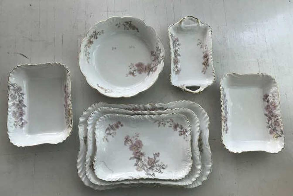 Antique C 1900 European Porcelain Serving Pieces