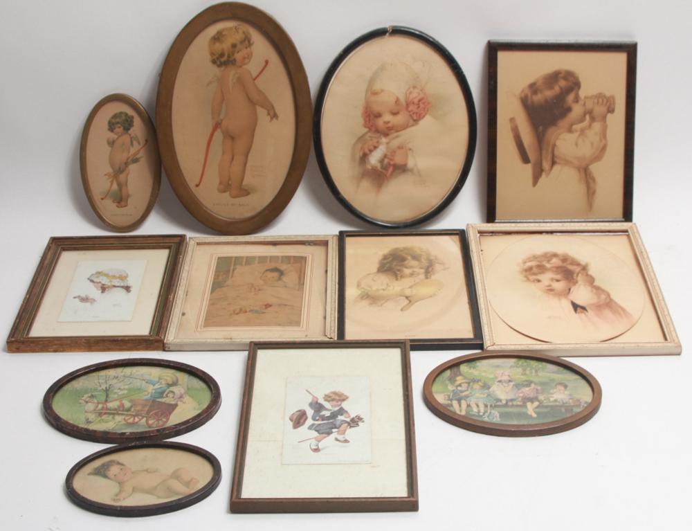 Lot of Bessie Pease Gutmann Framed Prints