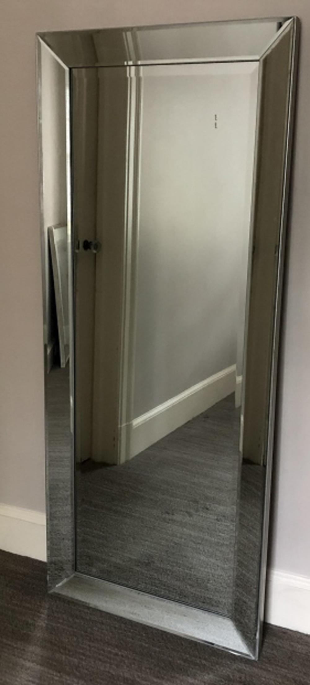 Full Length Mirror Framed Beveled Glass Mirror