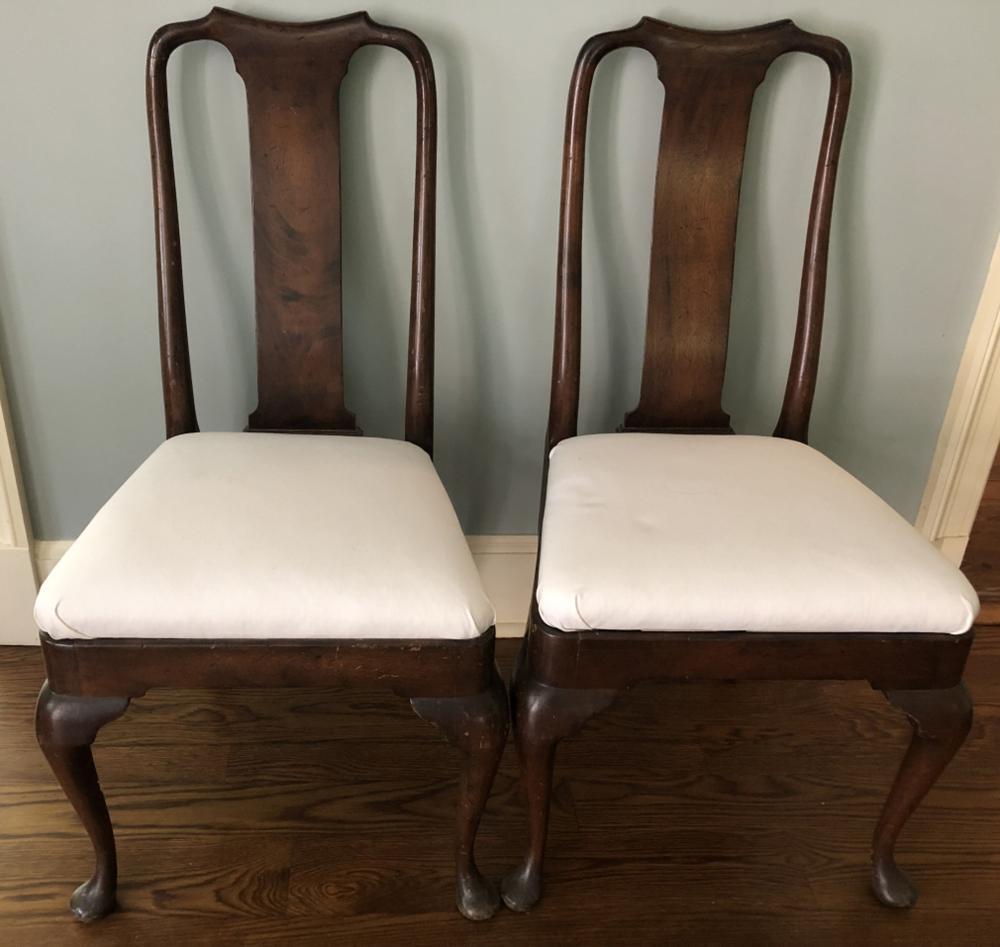 Pair Queen Anne Side Chairs