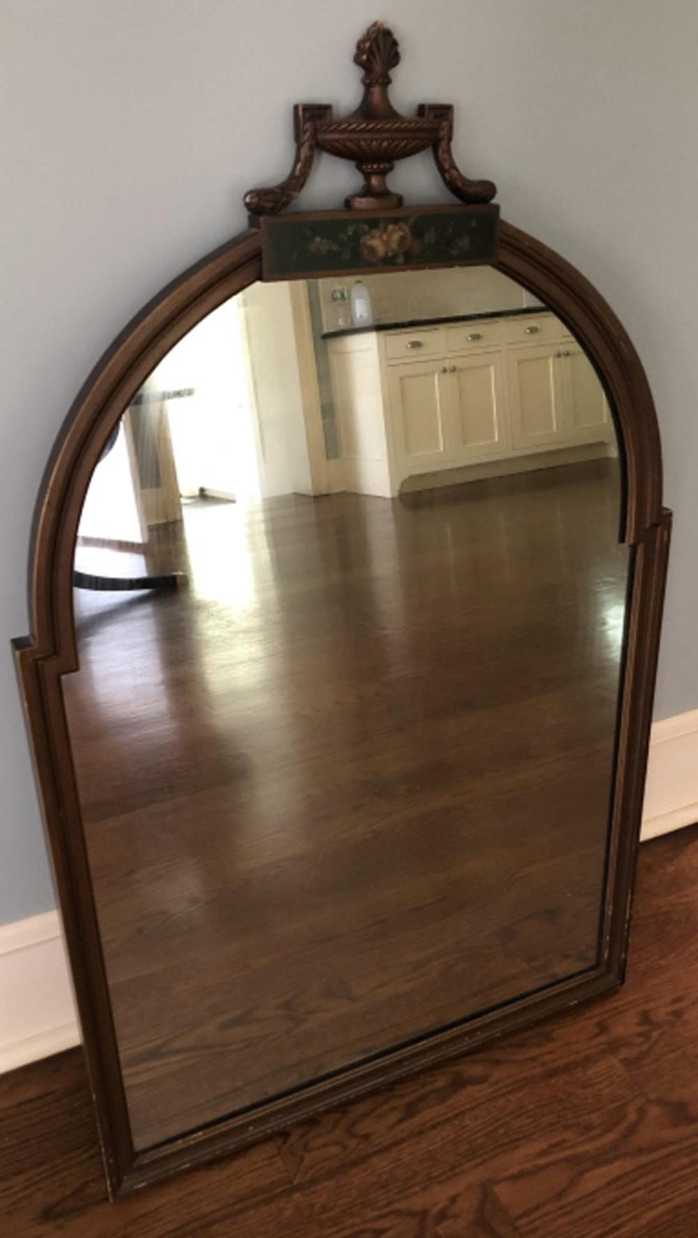 Vintage Hand Painted Neo Classical Motif Mirror