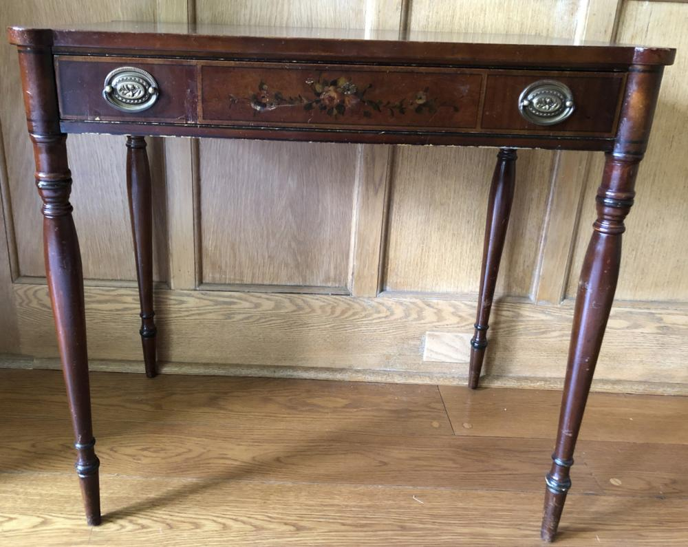 John Widdicomb Co. Hand Painted Console Table
