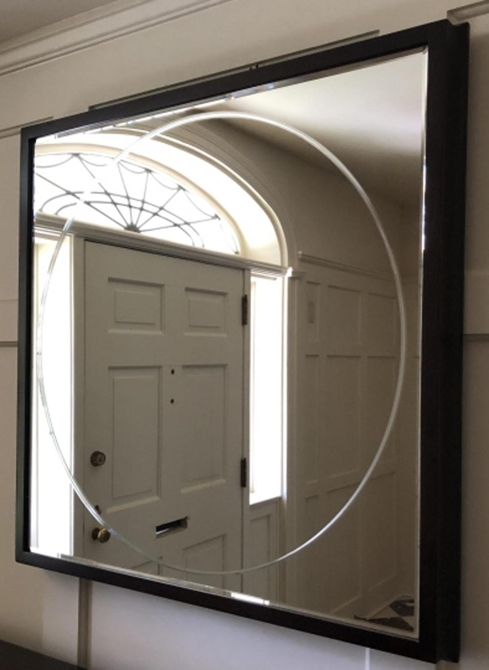 Barbara Barry Framed, Beveled and Etched Mirror