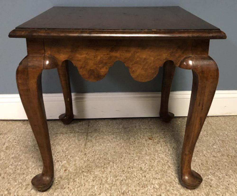 Chippendale Style Burled Side Table