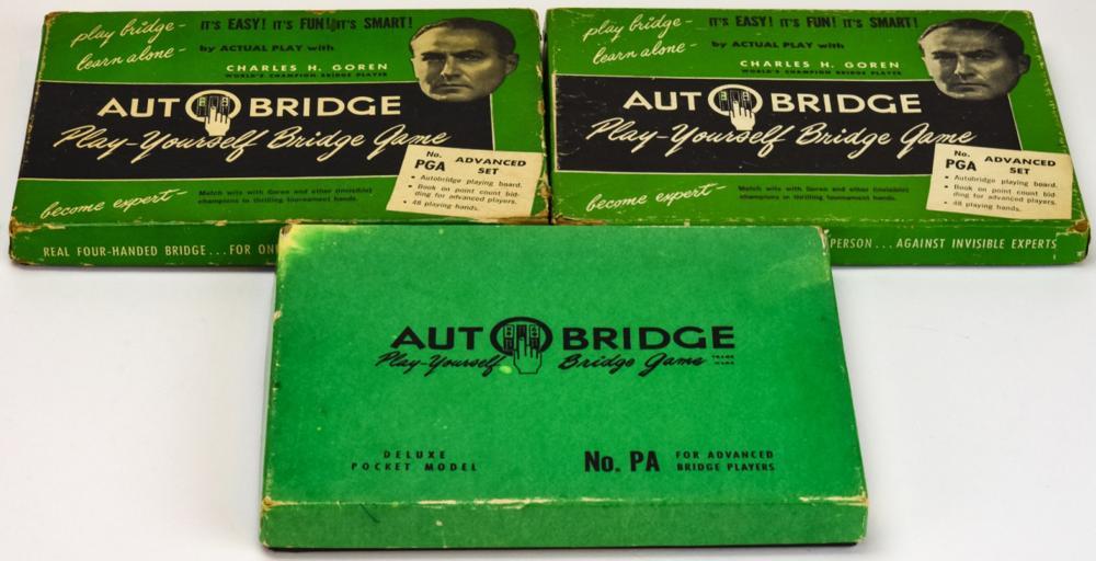 3 Vintage Auto Bridge Pocket Self Play Consoles
