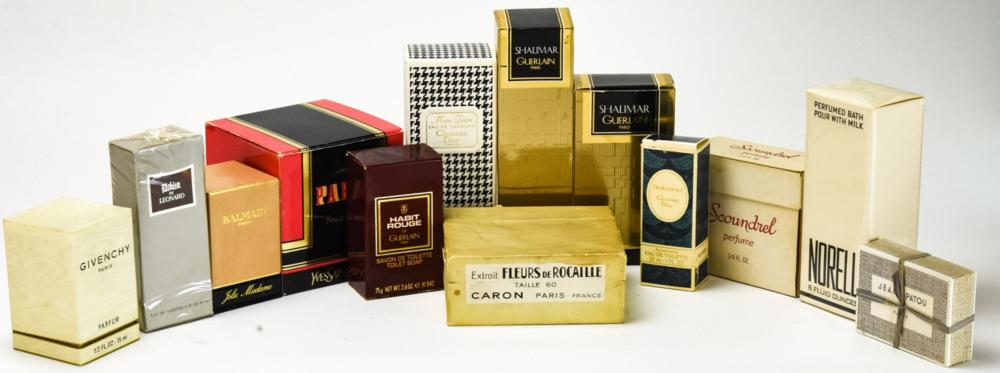 Collection Mid Century Packaged Perfumes