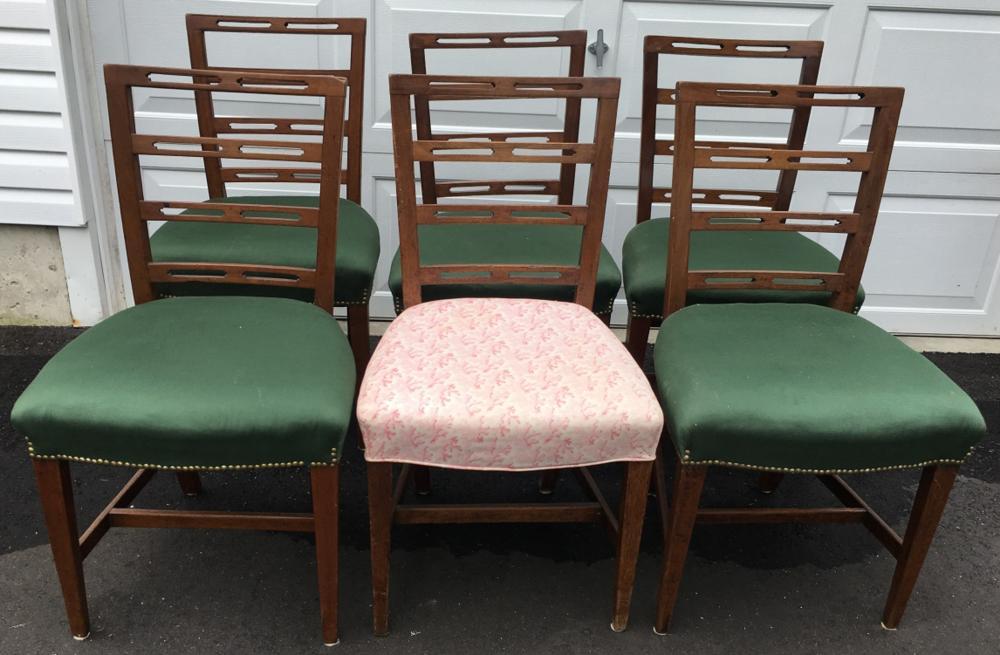 Strange 6 Sheraton Ribbon Back Dining Chairs Short Links Chair Design For Home Short Linksinfo