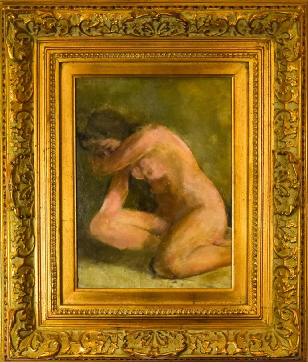 Ivan Olinsky Russian / American Nude Oil Painting