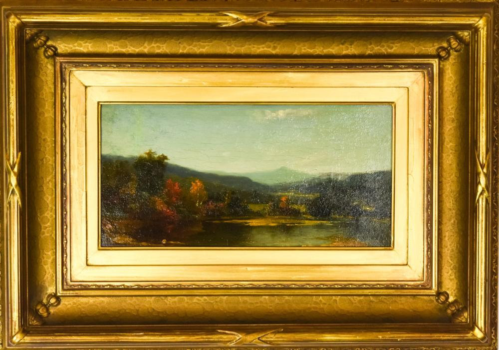 George Henry Story New Haven Falls Oil Painting