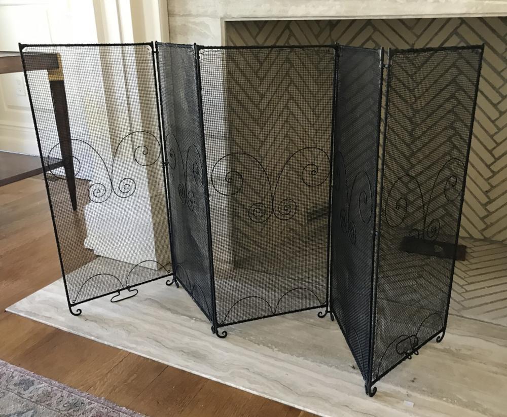 Contemporary Panel Design Fireplace Screen