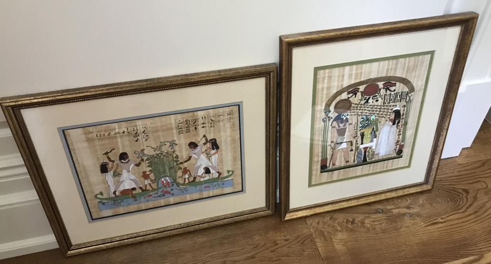 Two Professionally Framed & Matted Egyptian Prints