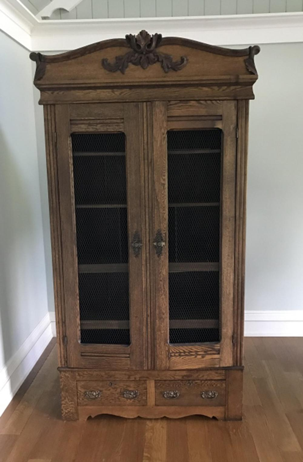 French Provencal Carved Armoire Cupboard Cabinet