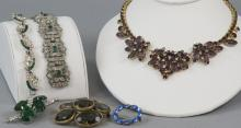 Vintage Rhinestone & Paste Costume Jewelry
