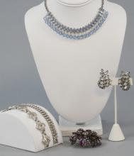 Group Vintage Rhinestone & Paste Costume Jewelry