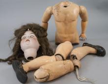 Large Antique German Bisque Head Doll A 15 M.