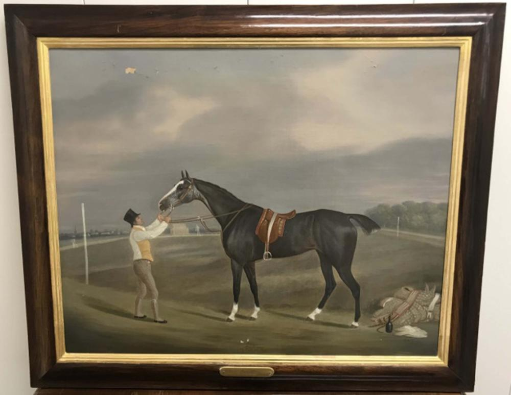 Clifton Tomson English Equestrian Oil Painting
