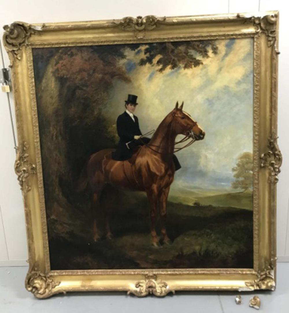James Lynwood Palmer Large Scale Oil Painting