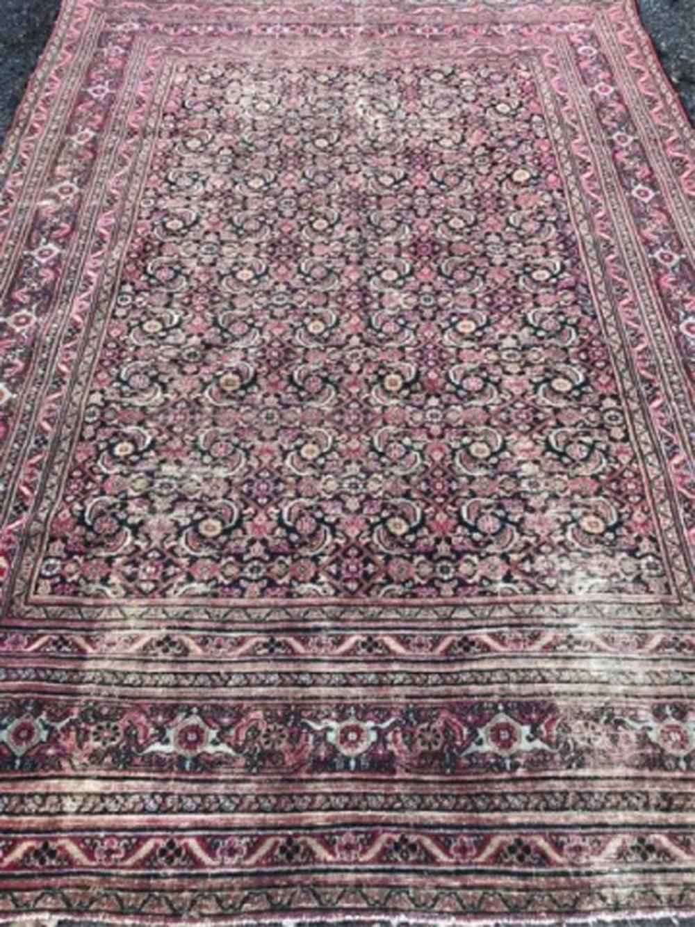 Antique 19th C Hand Knotted Persian Carpet